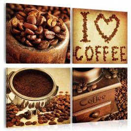 Obrazy na plátně - vůně kávy (80x80 cm) - Murando DeLuxe