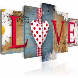 Pětidílné obrazy - love (200x100 cm) - Murando DeLuxe