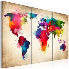 Duhové kontinenty (150x100 cm) - Murando DeLuxe