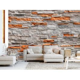 Tapeta Stěna z kamene (150x105 cm) - Murando DeLuxe
