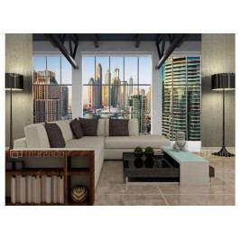 Fototapeta Dubaj za okny (S - (ŠxV) 150 x 105 cm) - Murando DeLuxe