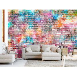 Tapeta - Barevná cihlová stěna (150x105 cm) - Murando DeLuxe