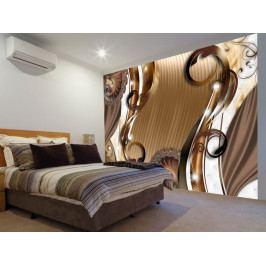 Tapeta jantarová stezka (150x105 cm) - Murando DeLuxe