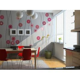 Růžový déšť (150x116 cm) - Murando DeLuxe