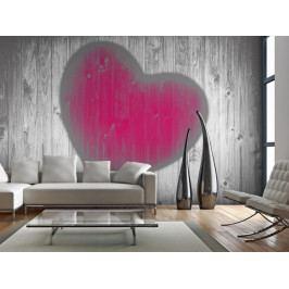 Dřevěné srdce (150x116 cm) - Murando DeLuxe