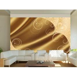 Tapeta zlatý satén (150x105 cm) - Murando DeLuxe