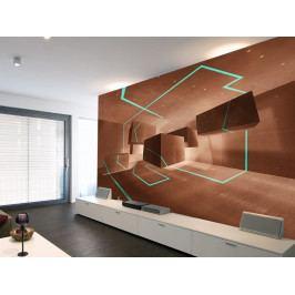 Tapeta akvamarínová stezka (150x105 cm) - Murando DeLuxe