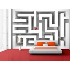 Tapeta labyrint (150x105 cm) - Murando DeLuxe