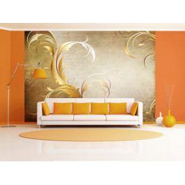Tapeta zlatý dopis (150x105 cm) - Murando DeLuxe