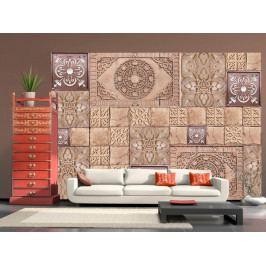 Tapeta perníková mozaika (150x105 cm) - Murando DeLuxe