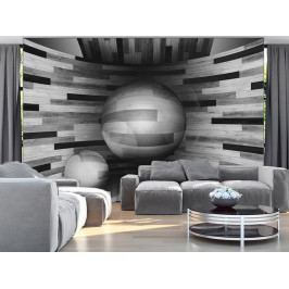 3D tapeta Šedý orbit (150x105 cm) - Murando DeLuxe