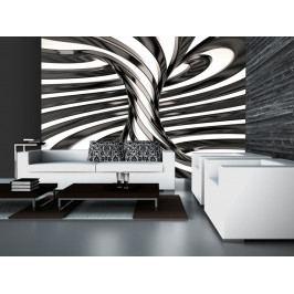 Černobílý vír (150x105 cm) - Murando DeLuxe