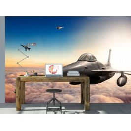 Tapeta na zeď - stíhačka F16 (150x105 cm) - Murando DeLuxe