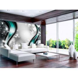Tyrkysová fantazie (150x105 cm) - Murando DeLuxe