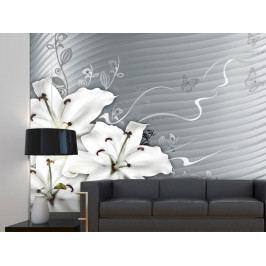 Tapeta - Bílé lilie (150x116 cm) - Murando DeLuxe