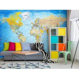 Tapeta Zeměpisná mapa světa (150x105 cm) - Murando DeLuxe