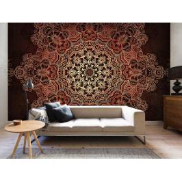 Tapeta mandala - hnědá (150x105 cm) - Murando DeLuxe
