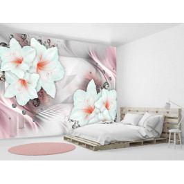 Růžové lilie (150x105 cm) - Murando DeLuxe