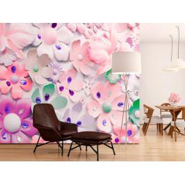 Tapeta květinová plastika (150x105 cm) - Murando DeLuxe