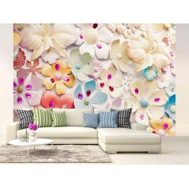 Tapeta Květinová plastika III. (150x105 cm) - Murando DeLuxe
