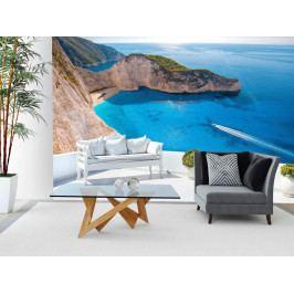 Tapeta azurové pobřeží (150x105 cm) - Murando DeLuxe