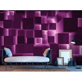 3D fialová tapeta (150x105 cm) - Murando DeLuxe