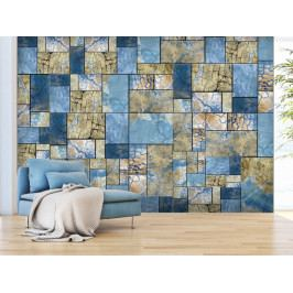 Modrá mozaika (150x105 cm) - Murando DeLuxe