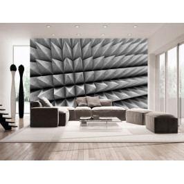 Tapeta šedé hroty (150x105 cm) - Murando DeLuxe