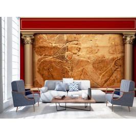 Tapeta egyptské sloupy (150x105 cm) - Murando DeLuxe