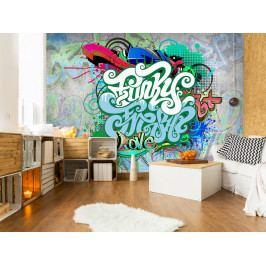 Fototapeta Graffiti v mátové (150x105 cm) - Murando DeLuxe