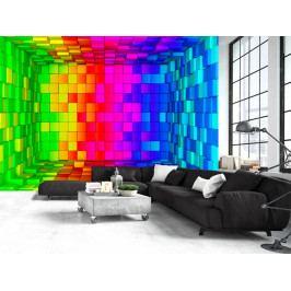 Tapeta barevná krabice (150x105 cm) - Murando DeLuxe