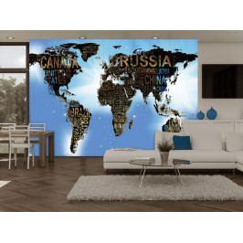 Fototapeta světadílů (150x105 cm) - Murando DeLuxe