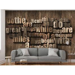 Písmo ze dřeva (150x105 cm) - Murando DeLuxe