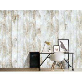 Tapeta bílé dřevo (150x105 cm) - Murando DeLuxe