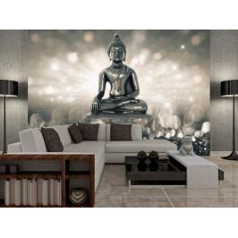 Tapeta stříbrný Buddha (150x105 cm) - Murando DeLuxe