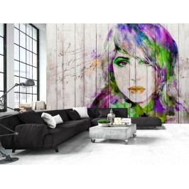 Tapeta akvarelový portrét (150x105 cm) - Murando DeLuxe