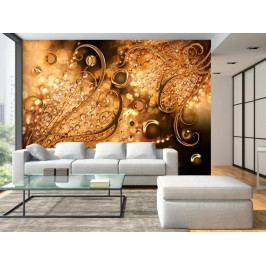 Tapeta zlatá - vzpomínky (150x105 cm) - Murando DeLuxe