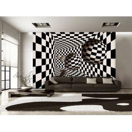 Tapeta šachovnice a geometrie (150x105 cm) - Murando DeLuxe