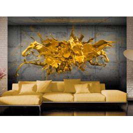 3D tapeta zlatá (150x105 cm) - Murando DeLuxe