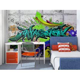 Tapeta moderní graffiti (150x105 cm) - Murando DeLuxe