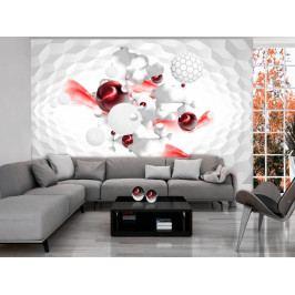 Tapeta Červená hra (150x105 cm) - Murando DeLuxe