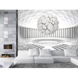 3D tapeta Skrytá geometrie (150x105 cm) - Murando DeLuxe