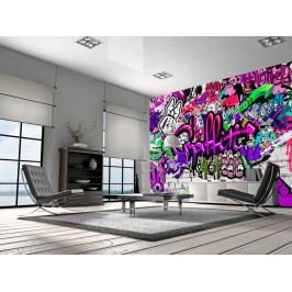 Fialové graffiti (150x105 cm) - Murando DeLuxe