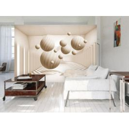 3D tapeta Béžové objekty (150x105 cm) - Murando DeLuxe