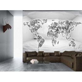 Diamantová mapa (150x105 cm) - Murando DeLuxe
