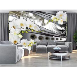 Fototapeta Orchidej a bižuterie (150x105 cm) - Murando DeLuxe