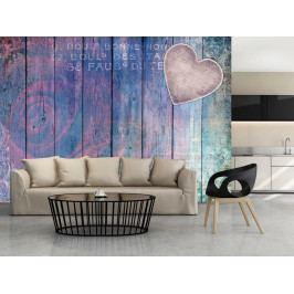 Vyznání na dřevě (150x105 cm) - Murando DeLuxe