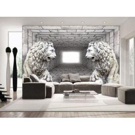 Tapeta lví strážci II. (150x105 cm) - Murando DeLuxe
