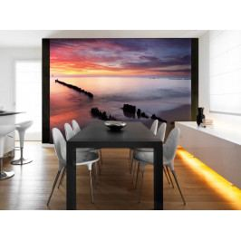 Fototapeta červánky nad mořem (150x116 cm) - Murando DeLuxe