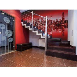 Tapeta Noční New York - červená (150x116 cm) - Murando DeLuxe